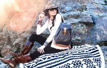 LOUIS VUITTON, THE BEACH PEOPLE, BEACH ROUNDIE TOWEL, TIMBERLAND BOOTS, HIKING STYLE, HIKING FASHION, HIKING CHIC
