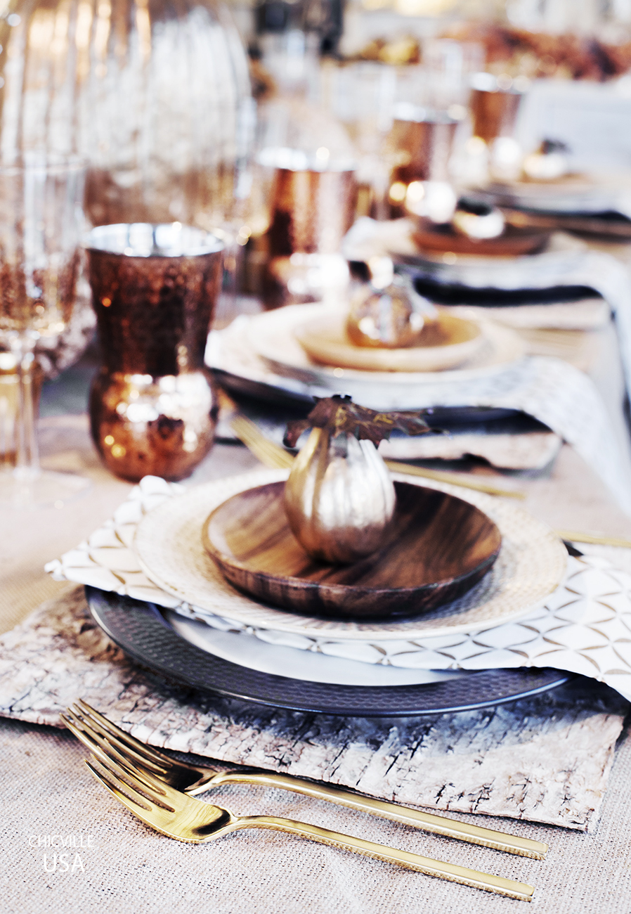 CHICVILLE DC, WEST ELM, MY WEST ELM, WEST ELM DC, TARGET DISHES, TARGET, Z GALLERIE, Z GALLERIE GLASSES, TABLESCAPE, FALL TABLE DECOR, FALL TABLE SETTING, THANKSGIVING TABLE SETTING, THANKSGIVING TABLE DECOR