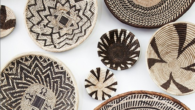 AFRICAN BASKET WALL, BASKET WALL, FEATURE WALL, AFRICAN BASKETS, HOME DECOR, AFRICAN DECOR, SAFARI DECOR