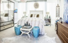HIGH-LOW, SHOP HIGH- LOW, CALYPSO, MORROCAN WEDDING BLANKET, ETHAN ALLEN, ETHAN ALLEN BED, RESTORATION HARDWARE, MIRRORED ARMOIR, PALMER STOOL, COWHIDE, COWHIDE RUG, WHITE AND SILVER COWHIDE RUG, Z GALLERIE, Z GALLERIE NIGHTSTANDS