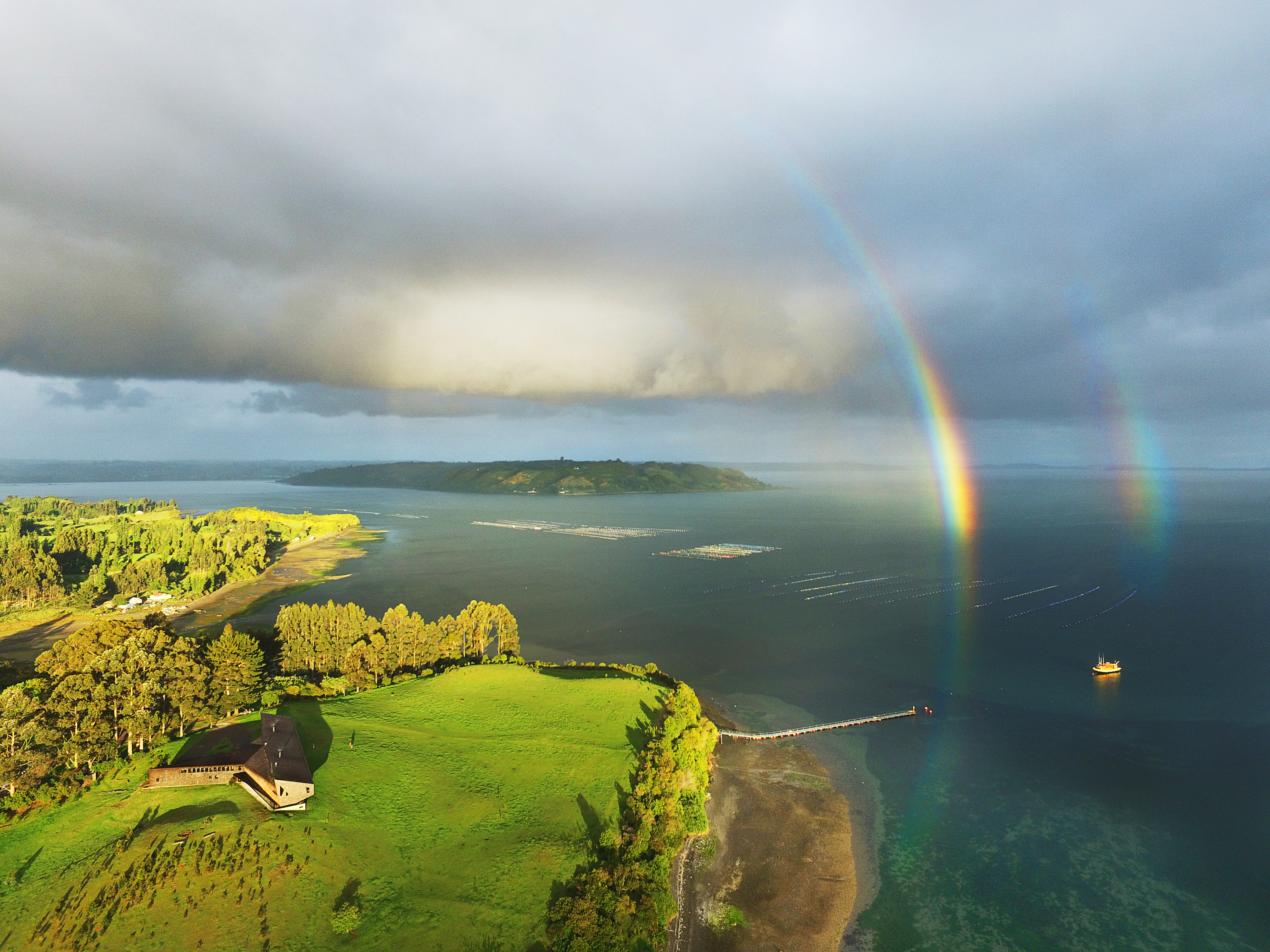 CHILE, CHILOE, TRAVEL CHILE, SOUTH AMERICA, TIERRA HOTELS, TIERRA CHILOE, RAINBOW