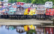 CHILOE, CHILE, TRAVEL CHILE, FISHING VILLAGE, CHILEAN FISHING VILLAGE, BRIGHT HOUSES,