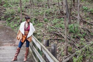 FALL FASHION, BUFFALO PLAID, SHEARLING COAT, DC STYLE, DCITY STYLE, RUSTIC FASHION, HIKING FASHION